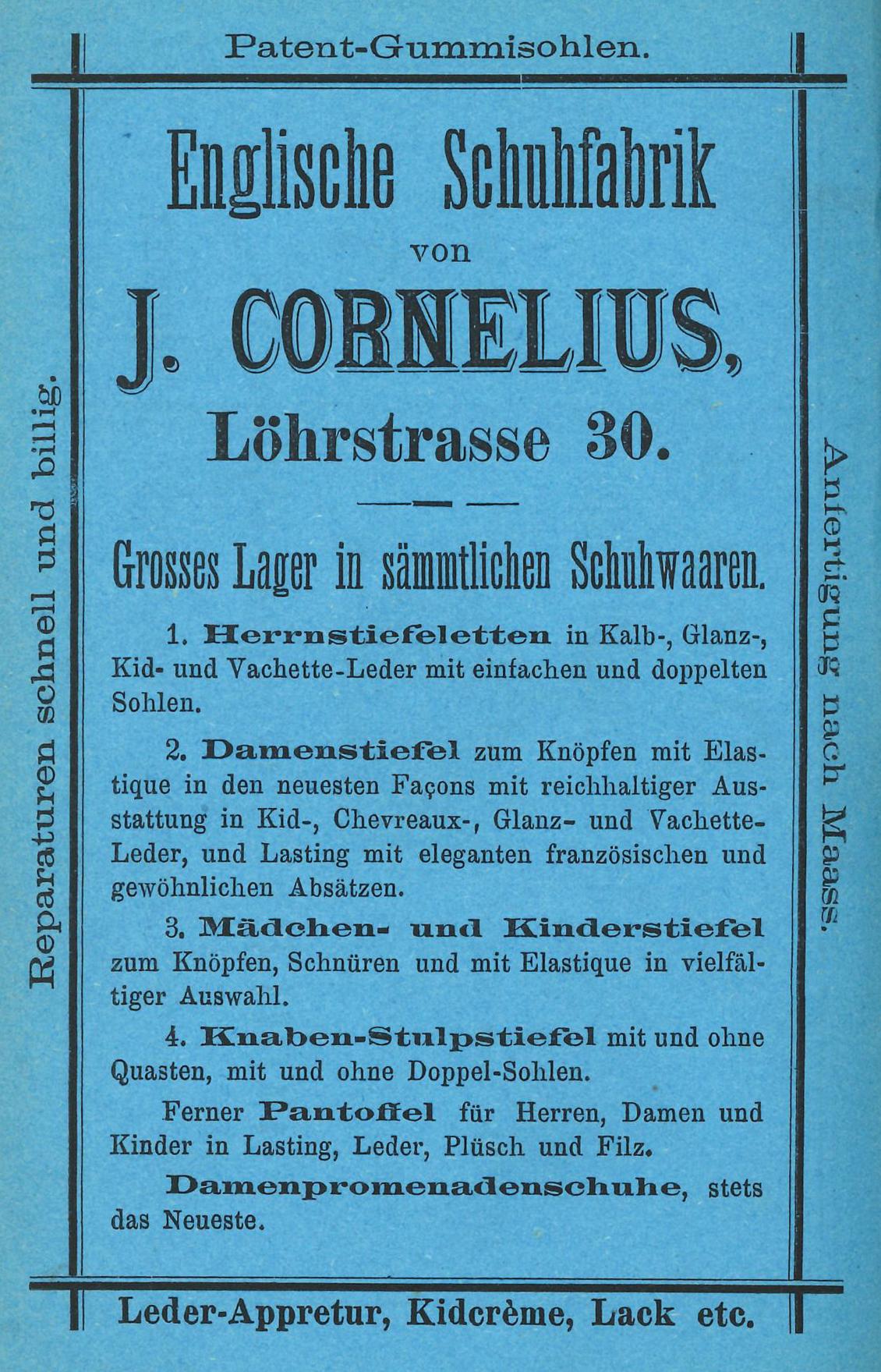 Schuhfabrik_Confluentia_01_Anzeige_1879
